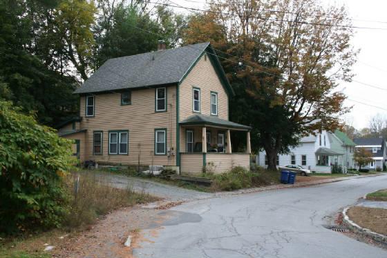 Former Arnesen house at 11 Ellis Street, Springfield, Vermont, 2012.