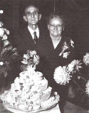 Edward and Lillie Merrick, on their 50th wedding anniversary.