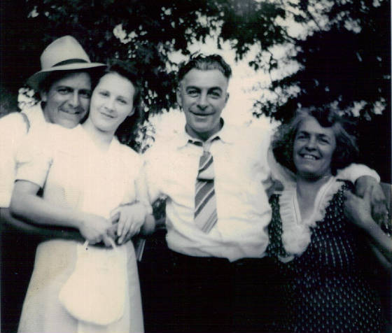 Mary Roberts Lefebre and husband Adolph (two on right) with cousin and his wife. Date unknown.