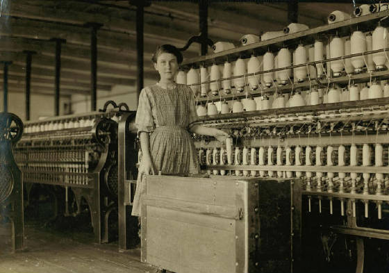 Adrienne Paquet, 14 years old, Winchendon, Massachusetts, September 1911. Photo by Lewis Hine.