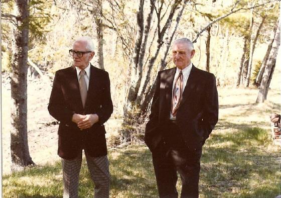 Allen Chaffey (right) and cousin Roland Chaffey, taken in 1977, the year Allen passed away.