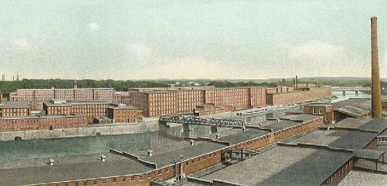 Amoskeag Manufacturing Company, from a 1911 postcard by Alphonso H. Sanborn.
