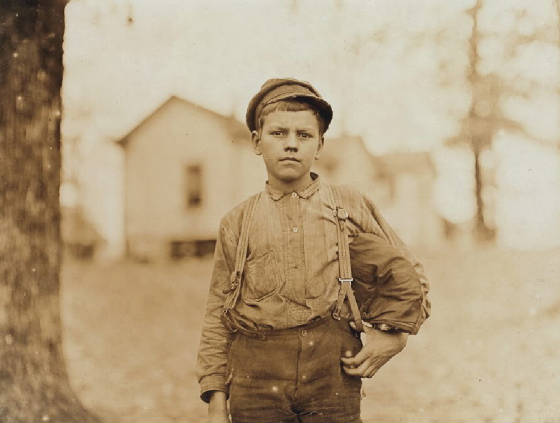 Archie Love, Chester, South Carolina, November 1908. Photo by Lewis Hine.