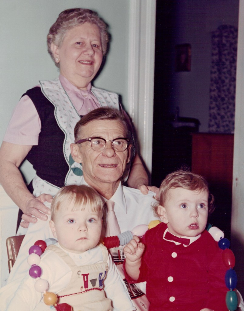 Arthur and Matilda Asselin with grandchildren, date unk. Photo provided by family.