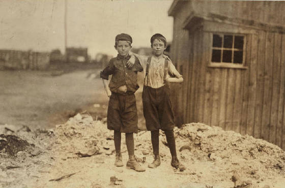 Ashby Corbin (right), Alexandria, Virginia, June 1911. Photo by Lewis Hine.