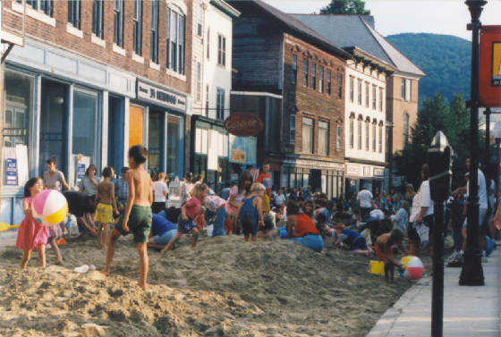 Eagle Street Beach Party, 1999.