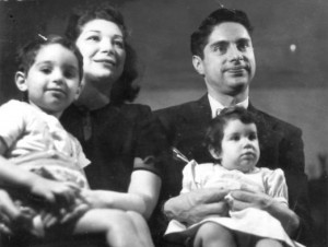 Beulah, Elliott, Mitchell, and Fran Bukzin (1944). Both photos provided by family.