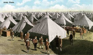 Camp MacArthur (Waco, Texas), where Fon Gentry died of influenza. Courtesy of Waco History Project.