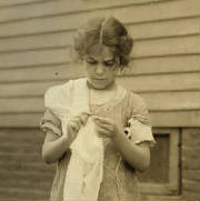 Carmina Caruso, Somerville, Massachusetts, August 1912. Photo by Lewis Hine.
