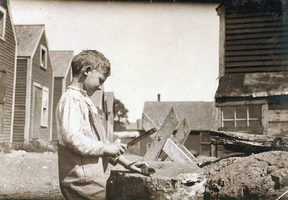 Clarence Goodeill (8 years old), Eastport, Maine, August 1911. Photo by Lewis Hine.