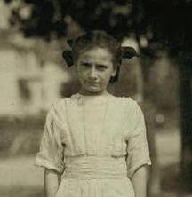 Clarinda Morin, 1911. Photo by Lewis Hine.