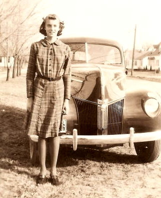 Claudine Abele, about age 13, circa 1941