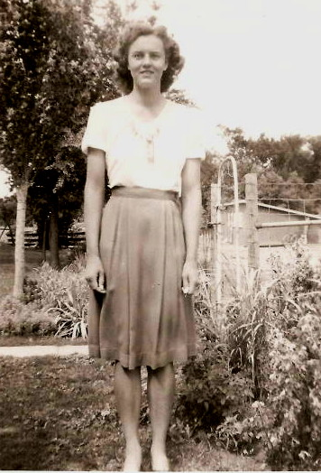 Claudine Abele, about age 16, in 1944