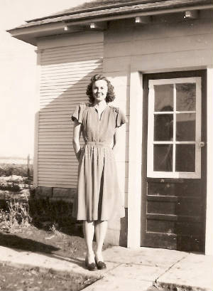 Claudine Abele, about age 14, in early 1940s