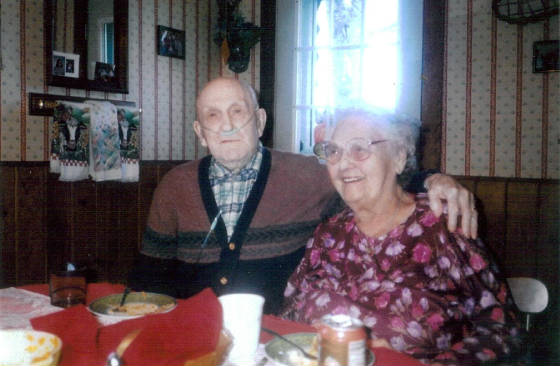 Daniel Collins, 95 years old, and wife Marion. Photo provided by family.