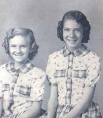 Della (left) and Nola, daughters of Luther and Mabel Watson, late 1940s.