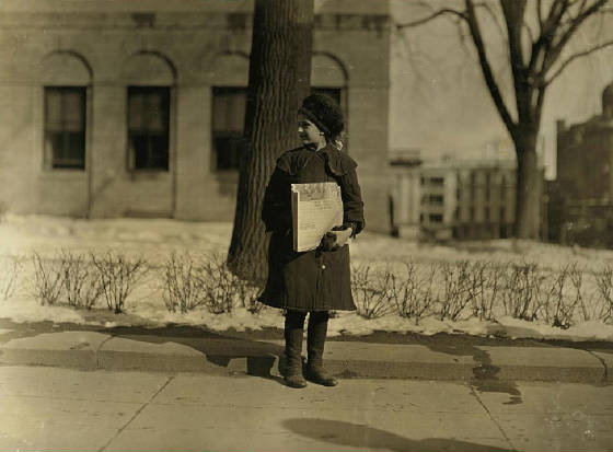 Dora Nevins (probably 10 years old), Hartford, Connecticut, March 1909. Photo by Lewis Hine.