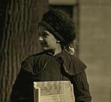 Dora Nevins, Hartford, Connecticut, March 1909. Photo by Lewis Hine.