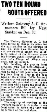 North Adams Transcript, December 23, 1919 (Eddie Leonard is Albert Duquette)