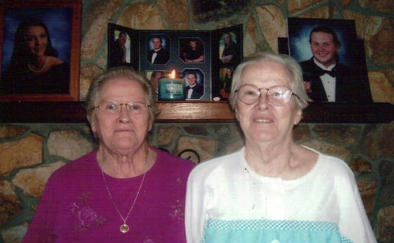 Elaine Franklin Petrie and Glenice Franklin Carter, 2005. Photo provided by family.