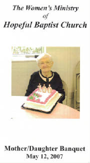 Eleanor Kidd (now Eckert), Robert's wife, at her 100th birthday celebration