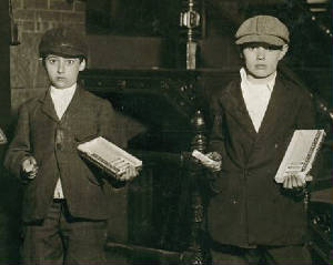 Eli (left) and Morris Marks, 1912. Photo by Lewis Hine.