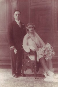 Elias and Eugenie Joseph on their wedding day in Lebanon, 1929. Provided by family.