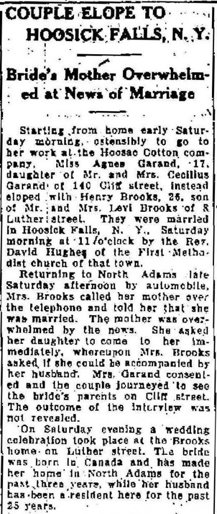 North Adams Transcript, August 31, 1926. Reprinted with permission.