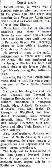 January 7, 1960. Courtesy of North Adams Transcript.