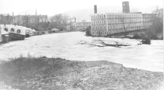 Barber Mill (upper right), Tannery Yard hidden behind it. Source: North Adams Transcript.