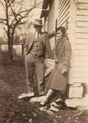 Fannie Sweeney Henderson and husband Frank in 1923. Photo provided by family.