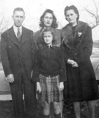 Frank & Pearl (Turner) Jenkins, daughters Rachel (front) and Sara (middle),1943.