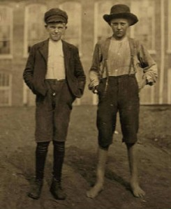 Fred (left) and William Crocker, Chester, South Carolina, November 1908. Photo by Lewis Hine.