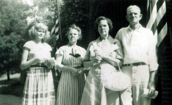 Fred and Sally Crocker (two on right) with unidentified persons, date unk. Provided by family.