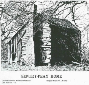 House where Fon Gentry was born and lived as a young child. Courtesy of Britt Thompson.