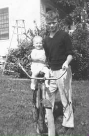 William Palmer and baby brother George, circa 1944. Photo provided by family.