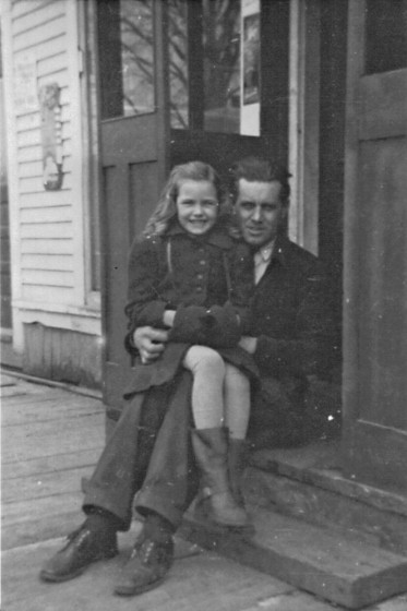 George Goodeill and daughter Carlene, circa 1938. Photo provided by family.
