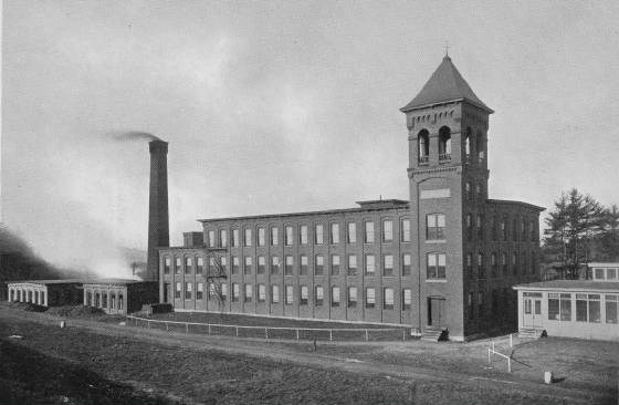 Glenallan Mill, circa 1900. Anna Dugas worked on top floor. Photo provided by Eric White.