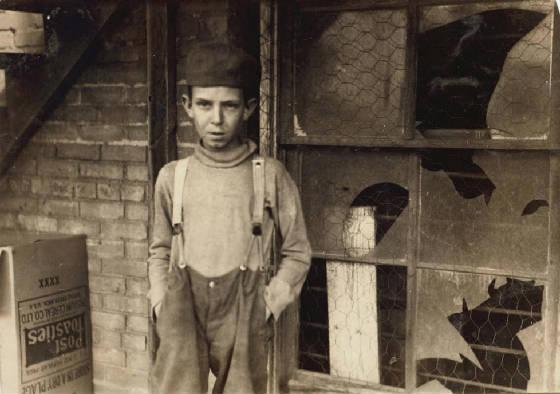 Glen Dungey, Oklahoma City, Oklahoma, April 1917. Photo by Lewis Hine.