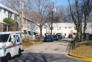 My former Hillside Road neighborhood in Greenbelt, Maryland (2004)