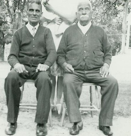 Henry (left) and Onesime Laberge, 1943, a year before Onesime died.