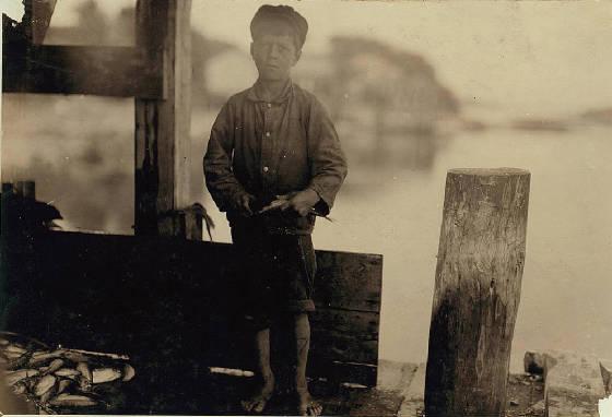 Hiram Polk, Eastport, Maine, August 1911. Photo by Lewis Hine.