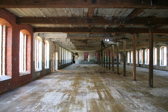 First floor of Glenallan Mill. Anna worked on the third floor. Photo taken in 2009.