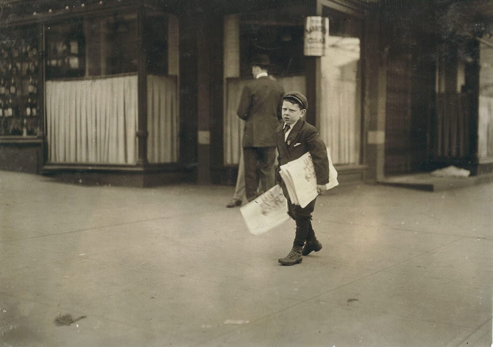 Israel April, Washington, DC, April 14, 1912. Photo by Lewis Hine.