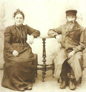 Yetta Rivka Bronovitz and husband Isaac (or Jacob) Bronovitz, in Poland, 1875. Provided by family.