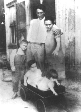 Jeff & Bessie Miller with (L-R) Sammy, a nephew & Ozella, circa 1931. Photo provided by family.