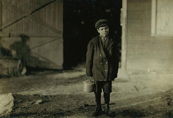 Joe Beafore, 10 years old, Fairmont, West Virginia, October 1908. Photo by Lewis Hine