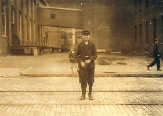 Idas Joseph Crepeau, North Adams, Massachusetts, August 1911. Photo by Lewis Hine