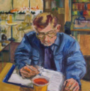 Painting of Joe Manning by Viola Moriarty