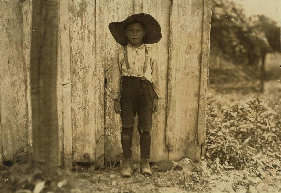 John Slebzak, near Pasadena, Maryland, July 1909. Photo by Lewis Hine.